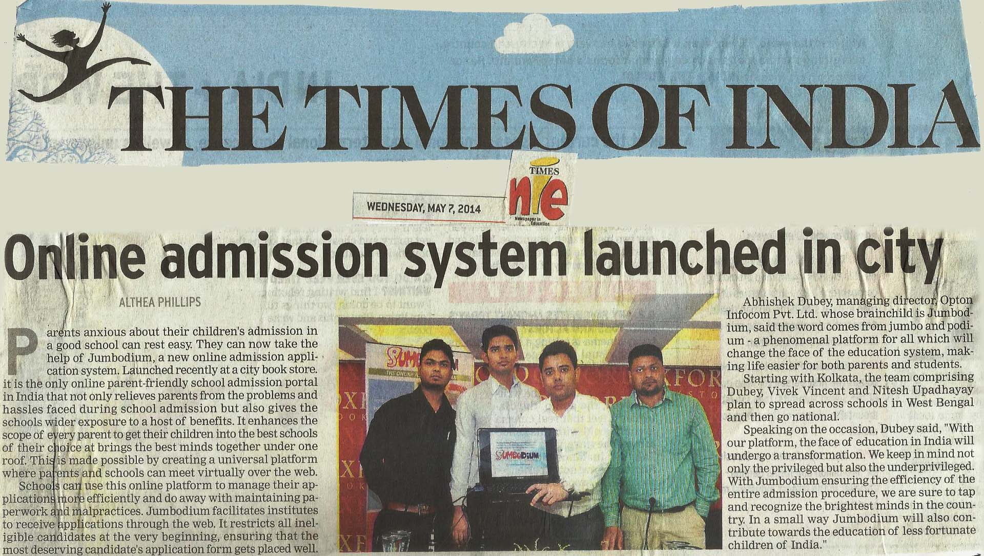 Online admission system launched in city